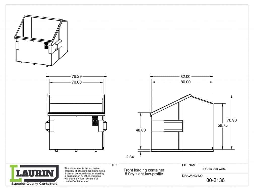 front-loading-container-8cy-slant-low profil-fe2136-web-laurin conteneurs